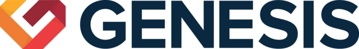 Large genesis logo horizontal dark