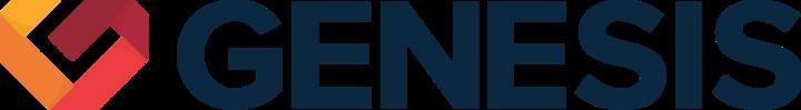 Large genesis logo horizontal dark
