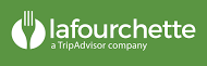 Large logo lafourchette horizontal fond vert