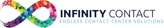 Large infinity contact logo
