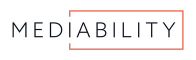 Large mediability svart tekst logo