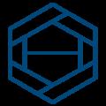 Large vesta logo blue icon