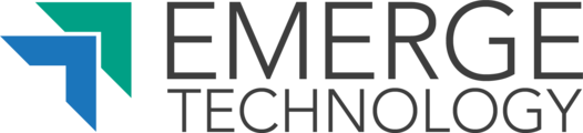 Large emergetech logo en white