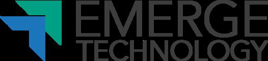 Large emergetech logo en white