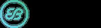 Large eb logo gradient black text
