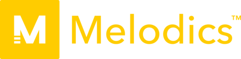 Large melodics logo yellow