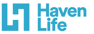 Large haven life logo primary 2 line large blue