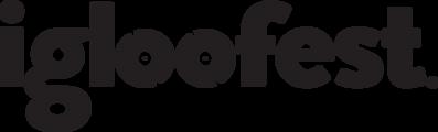 Large igloofest logo black