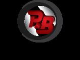 Large p b logo