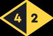 Large c42d yellow black