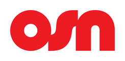 Large osn red logotype monotone