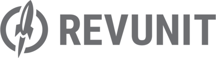 Large revunit logo horizontal gray