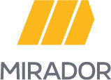 Large mirador gold logo stacked