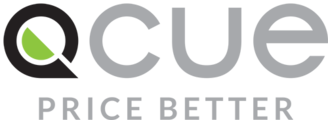 Large qcue logo with tag web version