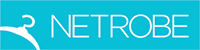 Large netrobe logo cyan on white